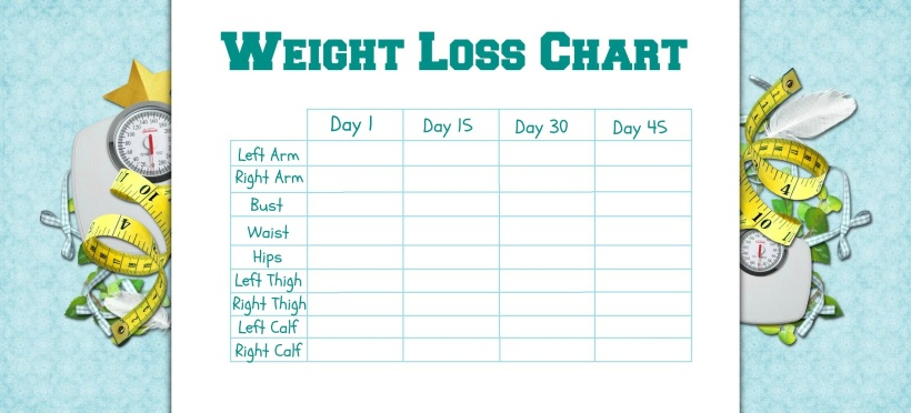 weight tracking chart