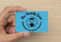 Round Gent Card